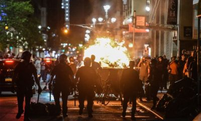 Curfew imposed as protesters loot stores in NYC.